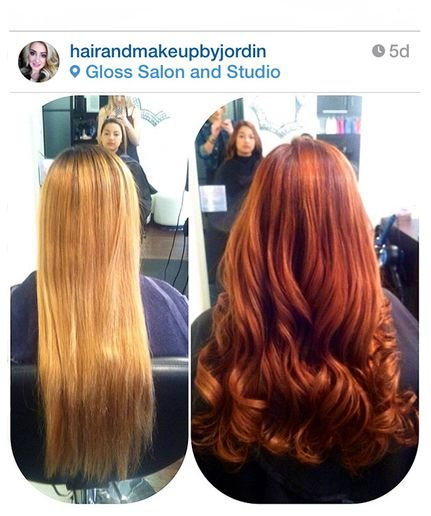 COLOR CORRECTION: Brassy Blonde to Rich Redhead Transformation