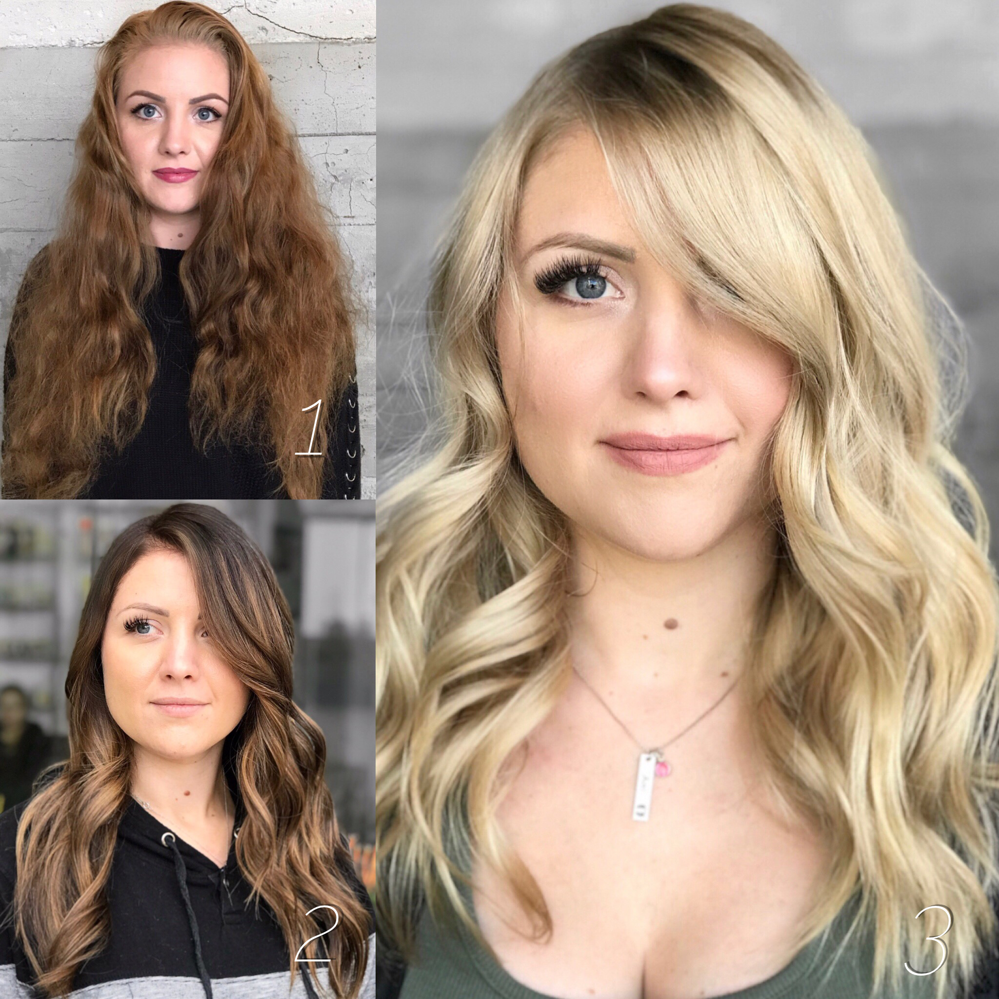 Hair color makeover by Breanna Weinhold.