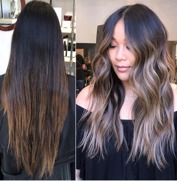 Before and after Bronde hair color by Daniel Mora.