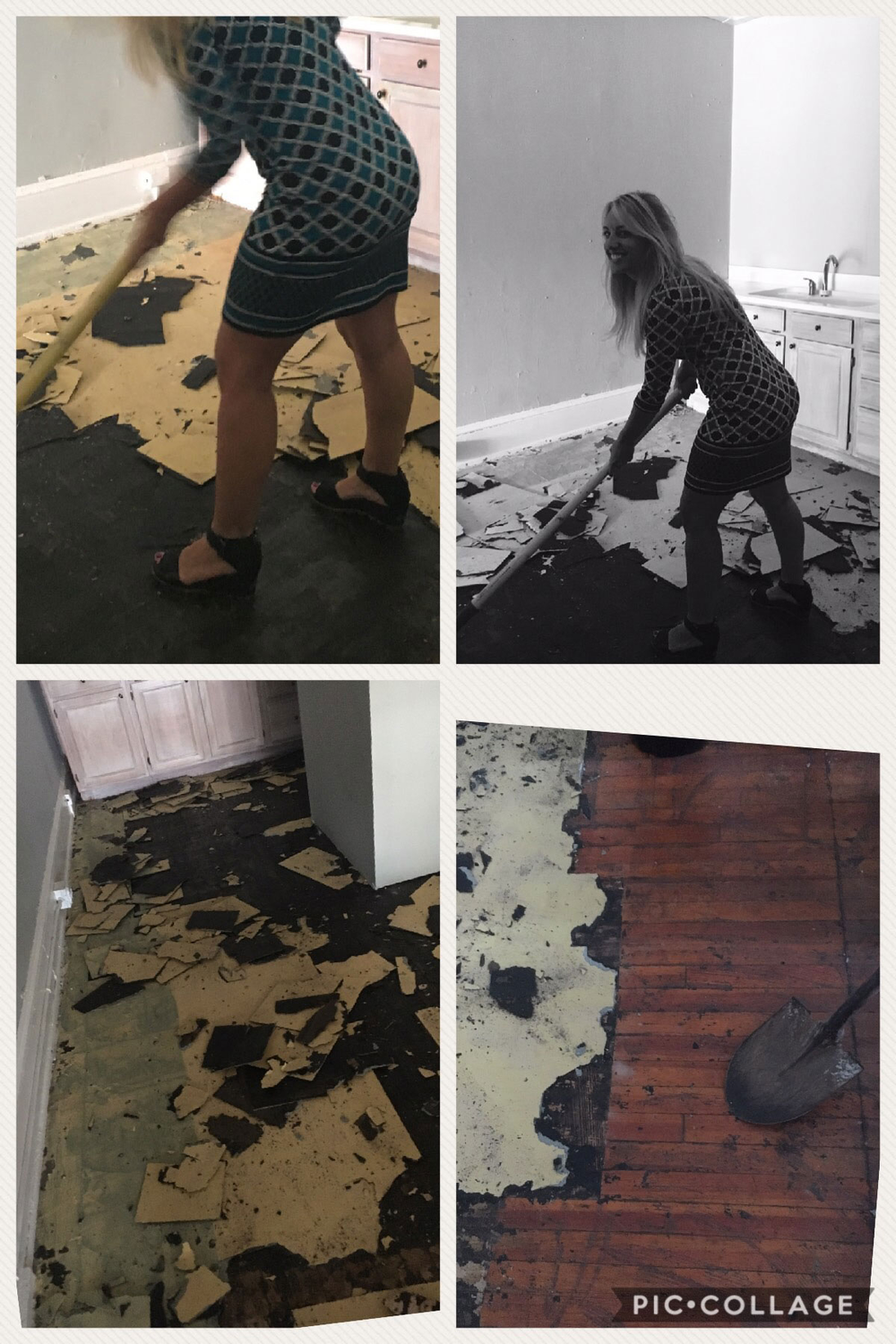 """Walker hard at work on her salon's renovation. <p>""""Part of our vetting process involved looking at contestants' Facebook pages and, indeed, there she is swinging a hammer!"""" says Wesley Camp, Marketing Director at Minerva Beauty.</p> <p></p>"""