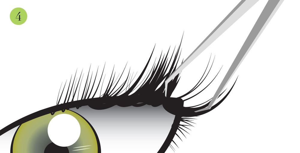 Save three lashes near the outer 30% of the lash line for candiedLASH application.