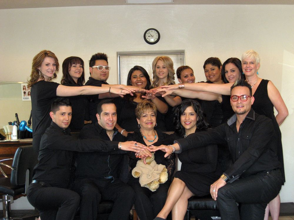 Staff of Carmona's Salon and Day Spa in Las Cruces, New Mexico.