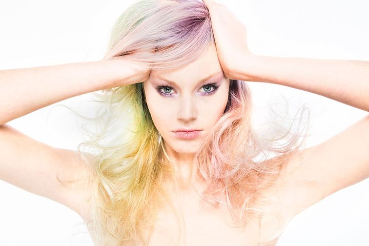 Frosted Matte: Lina Arrojo's Razor Cuts and Pastel Colors