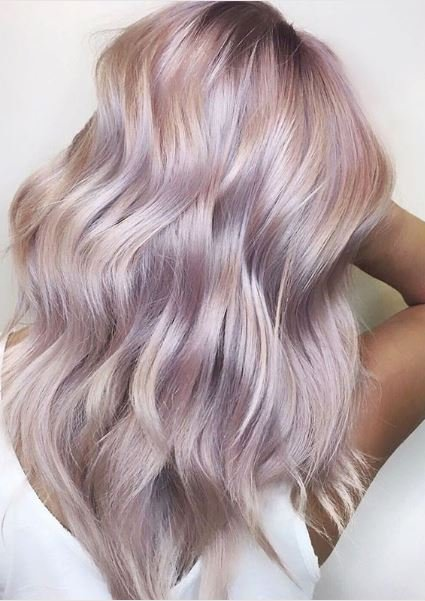 This pearlized pink shows the range of ways this color can be translated into hair color.