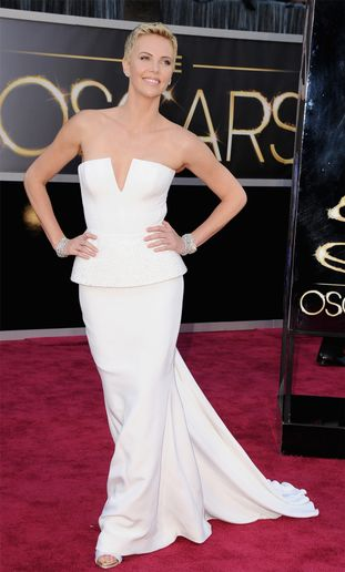 THE OSCARS: Charlize Theron's Androgynous, Short Hair