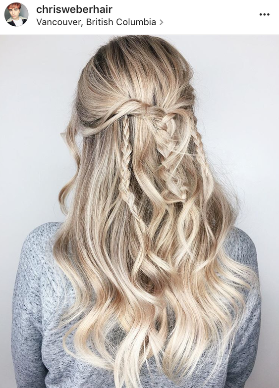 <p>Via @chrisweberhair. The perfect boho braided look for your festival-attending guests.</p>