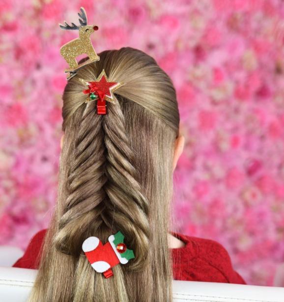 Christmas tree hair byBeth Belshaw.