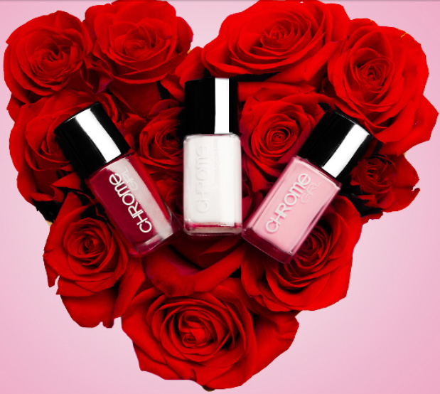 Nails Shine Bright on Valentine's Day with Chrome Girl