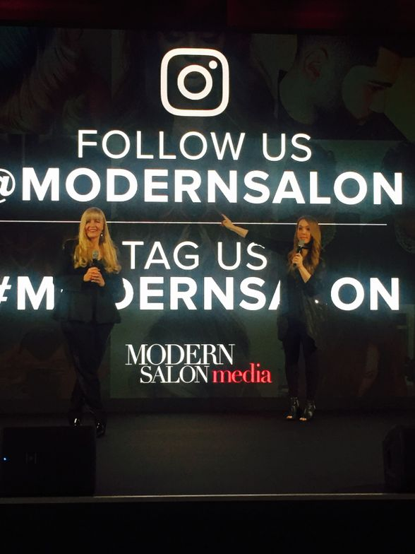 "Editor in Chief Alison Alhamed and Beauty and Fashion Director Maggie Mulhern present ""How To Get Re-grammed By MODERN SALON"" at Redken Symposium 2017."