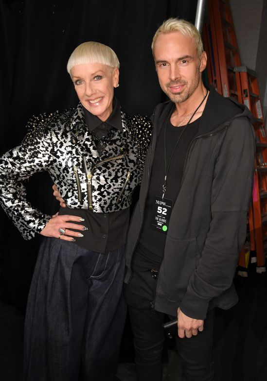 Jan Arnold, CND Co-founder and Style Director and David Blond.