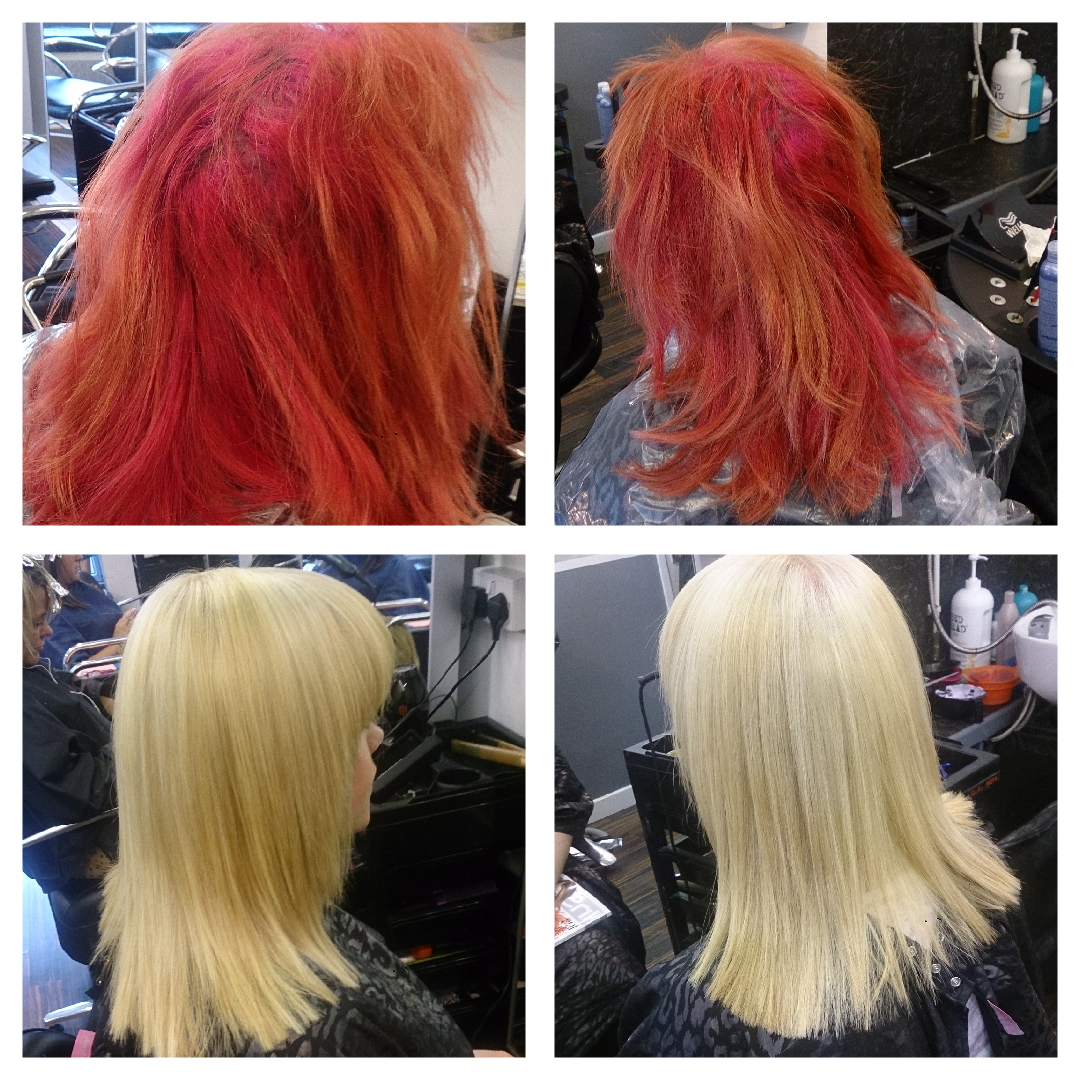 Challenge Accepted! Red-Orange to Platinum Color Correction