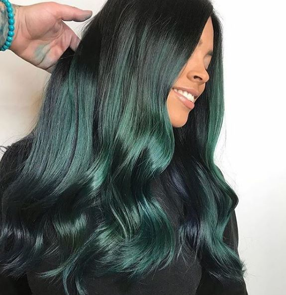 We love this subtle combination of black and green to create a more traditionally wearable version of the hue.