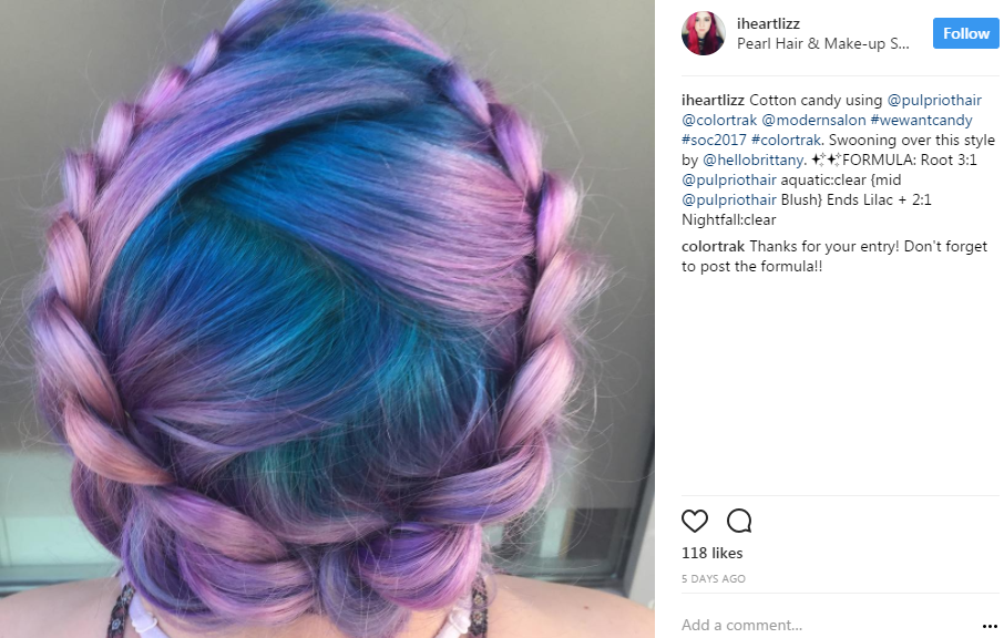 @iheartlizz's cotton-candy colored halo braid.
