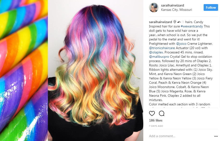 @saraihairwizard has us CRAVING lollipops.