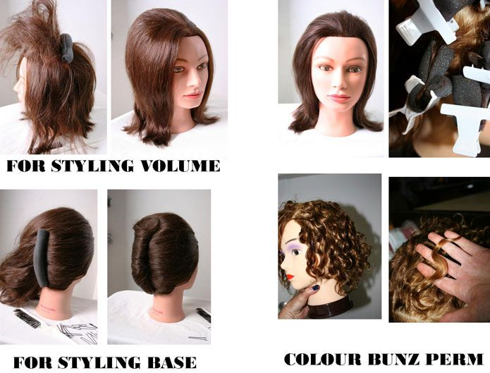 In addition to coloring, Forgione uses the Bunz for styling. They can add volume or serve as a styling base for twists and chignons.