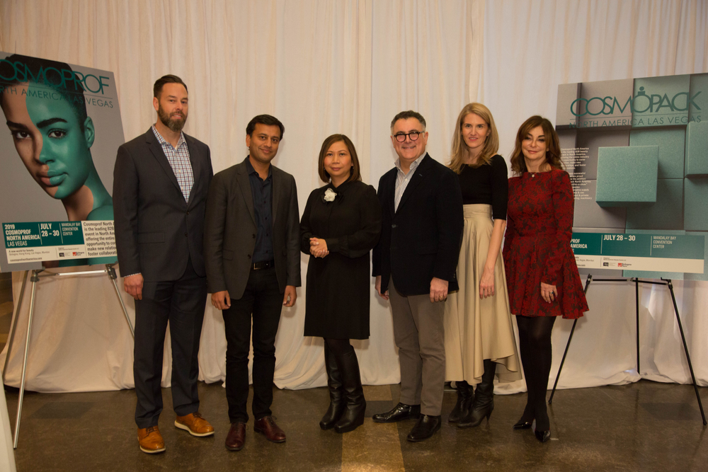 <p><strong>(FROM LEFT TO RIGHT)</strong></p> <p>Joe Licari, ED of Package Development, <em>Shiseido Americas</em></p> <p>Piyush Jain, VP Haircare, <em>Unilever</em></p> <p>Liza Rapay, Head of Marketing, Cosmoprof North America</p> <p>Stephen Kanlian, Chairman of FIT's Cosmetics &amp; Fragrance Marketing and Management Master's Program</p> <p>Jenny Bailly, Executive Beauty Director, <em>Allure</em> and Lana Glazman, VP of Beauty and Home, <em>Aptar</em></p>
