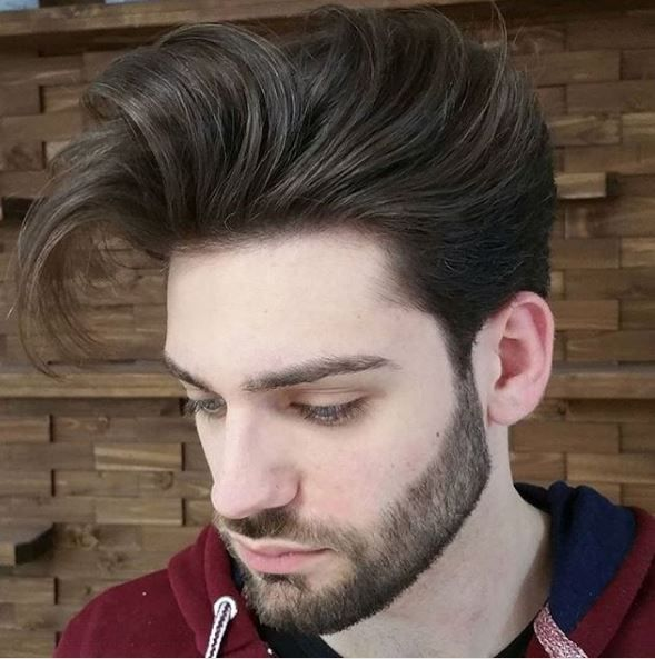 The contrast @criminal_barber work achieved here between the beard and pompadour shows a great balance of volume with clean lines.