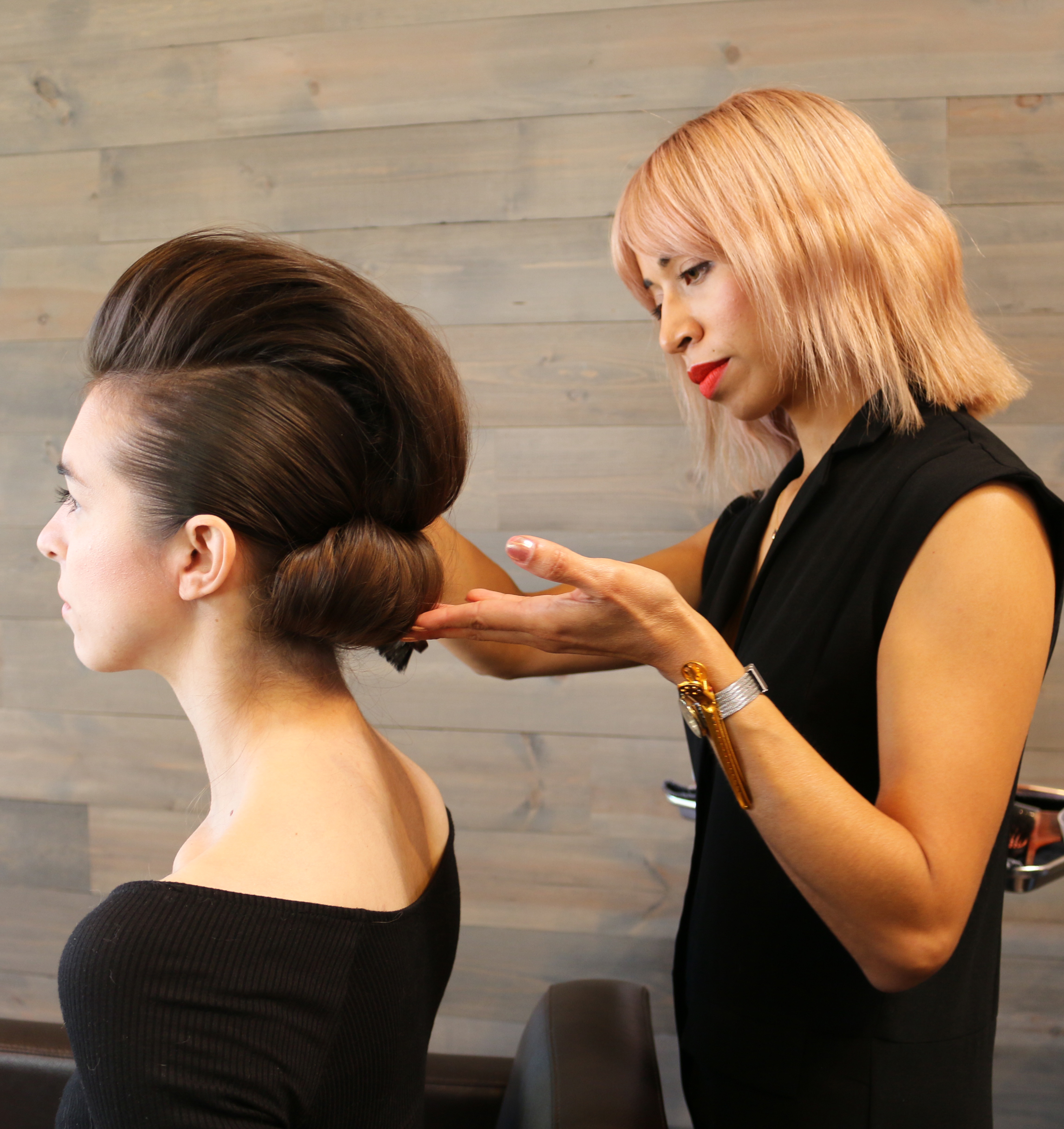 HOW-TO: Pompadour Upstyle With Extra Volume by Phillip Wilson and Ruth Tedmori