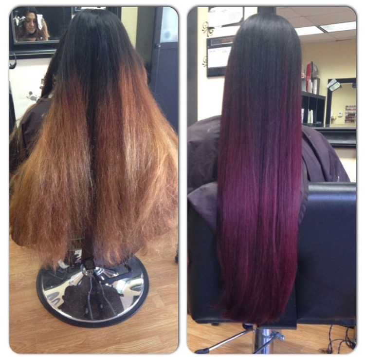TRANSFORMATION: Long Ombre To Gentle Fashion Sombre