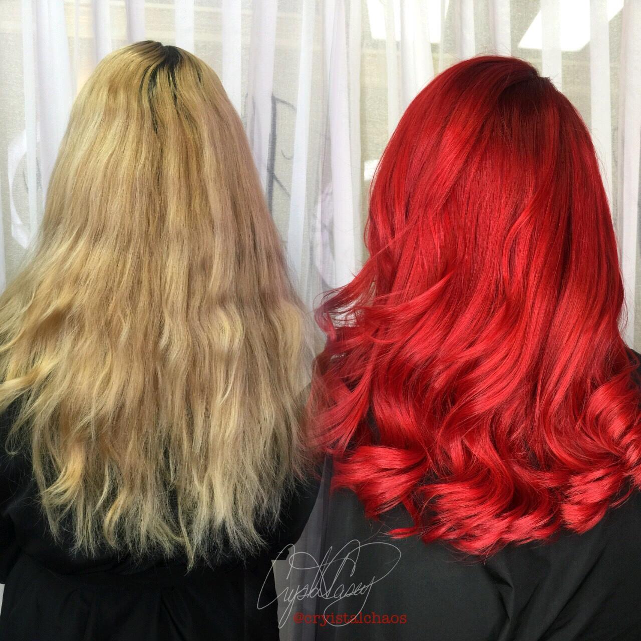 TRANSFORMATION: Pretty Blonde To HIGH VOLTAGE Red
