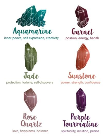 There are 6 different healing shades in Pravana's VIVIDS Crystals collection