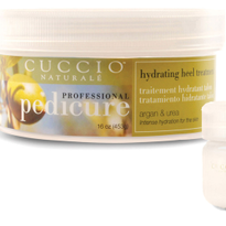 Cuccio Naturale's Hydrating Heel Treatment is available in a 16 oz professional size and a 2 oz...