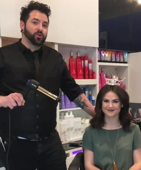 Stylist Ben Hudgins shows how to create beautiful texture on Miss Texas Teen