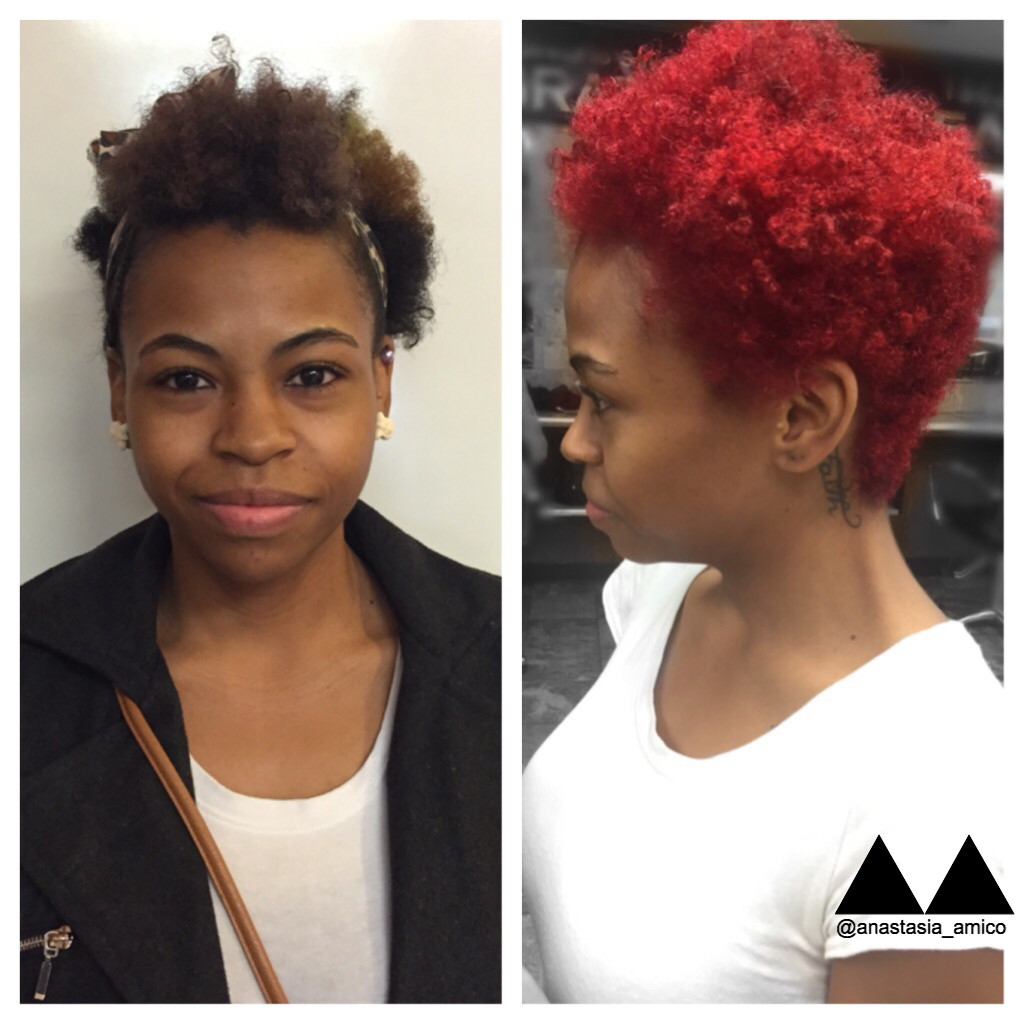 How-To: Vibrant Red Curls from Box Colored Chaos