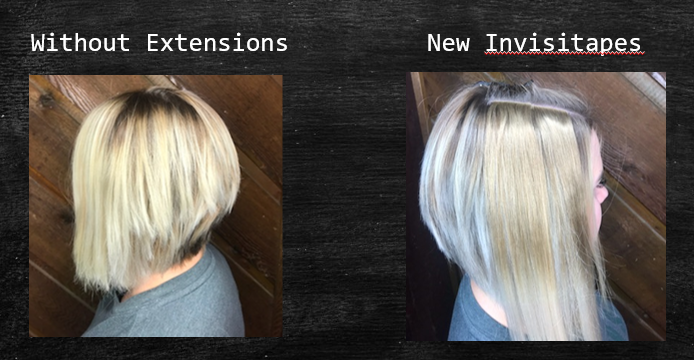 6 WEEKS LATER...<br /><br />WITHOUT EXTENSIONS AND THEN WITH EXTENSIONS ADDED