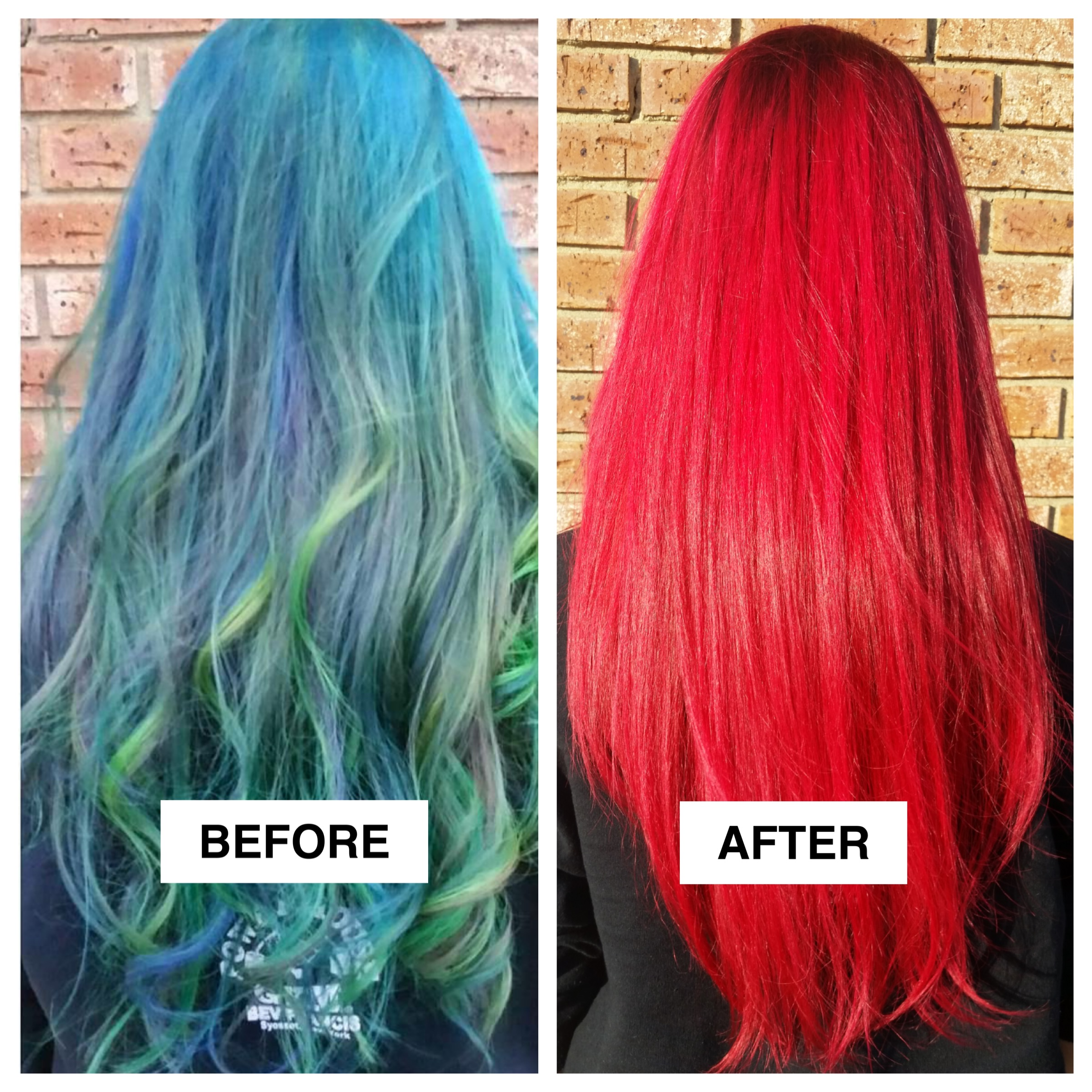 Fashion Blue/Green to Bright Red