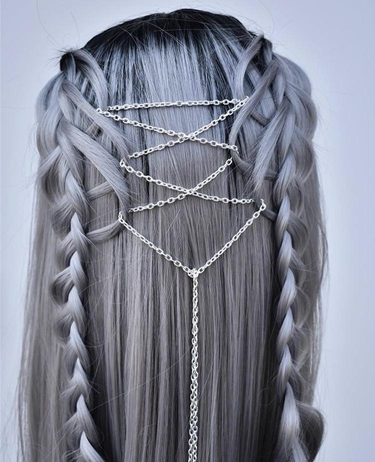 @hairbykatied's metallic maven.