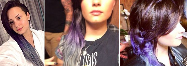HOW-TO: Purple & Silver Urban Ombre