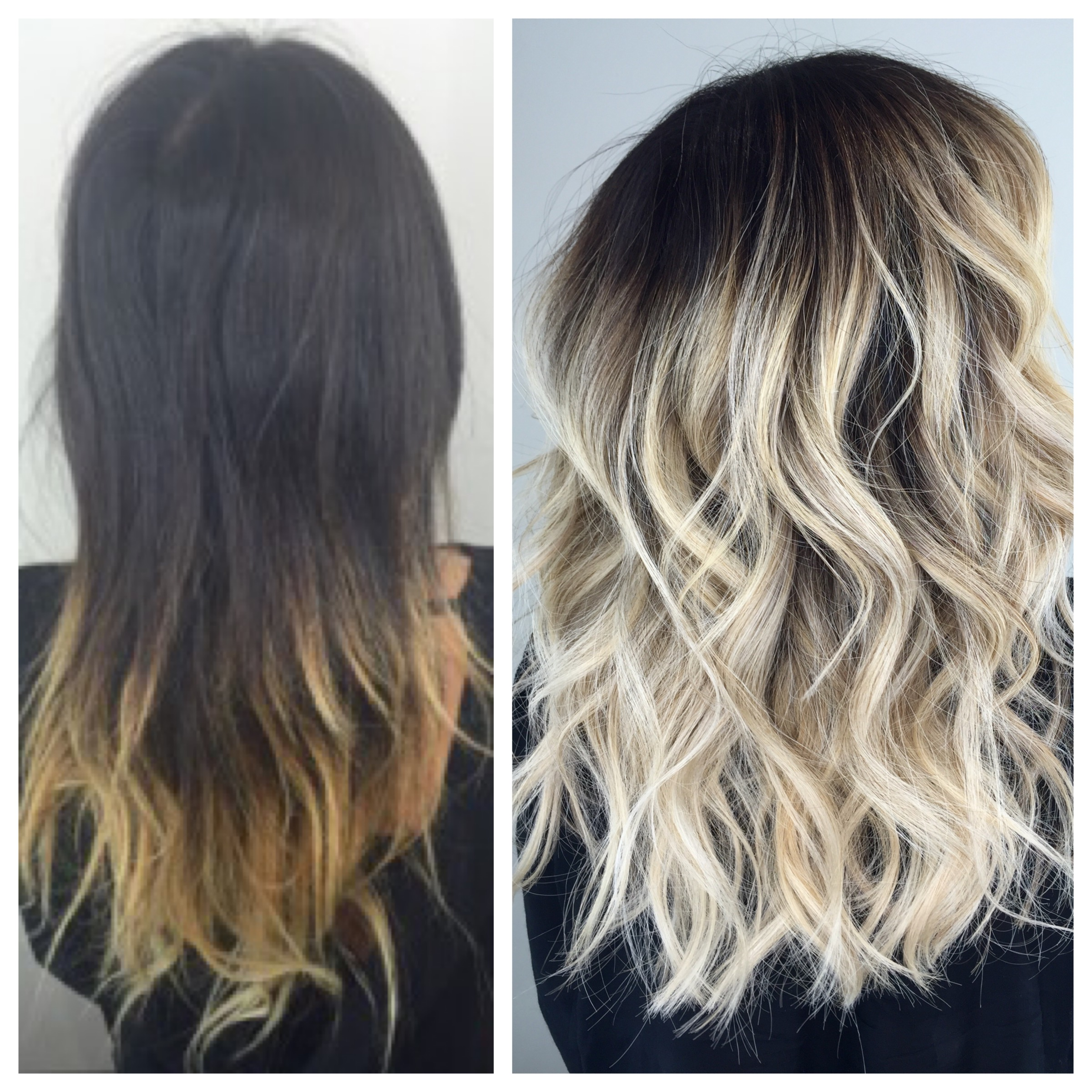 Khloe Kardashian inspired haircolor makeover by Dennis Cooper.