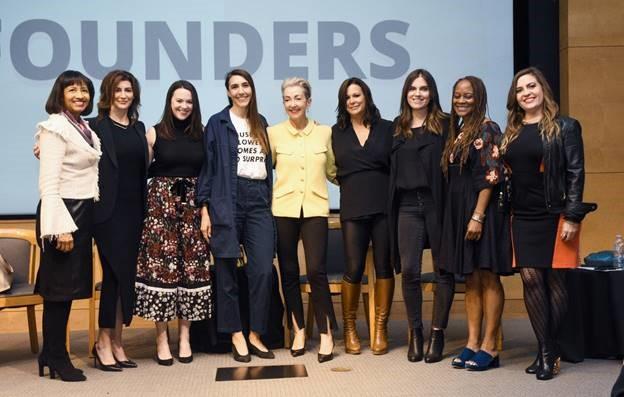 Sonya Kay Blake, Carisa Janes, Colleen McKeegan, Iris Alonzo, Jane Wurwand, Kate Somerville, Carly de Castro, Tracy Gray, and Natalie Byrne on International Women's Day.