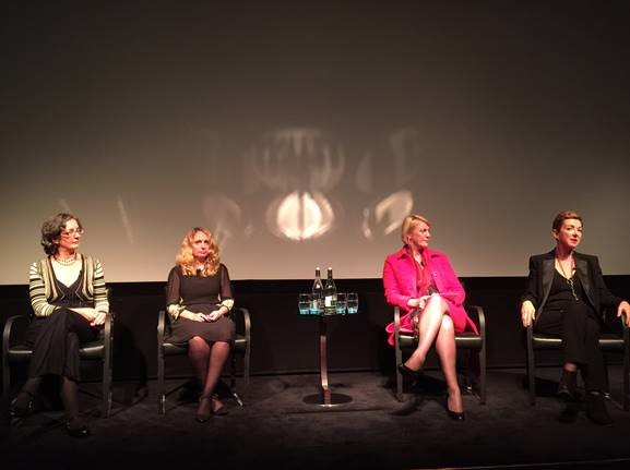 (From left to right:) Helen Pankhurst, women's rights activist and great granddaughter of Emmeline Pankhurst; Michelle Nicholson, founder of KeyChanges; Suzy Greaves, editor-in-chief of Psychologies magazine; and Jane Wurwand, founder and chief visionary of Dermalogica and FITE.