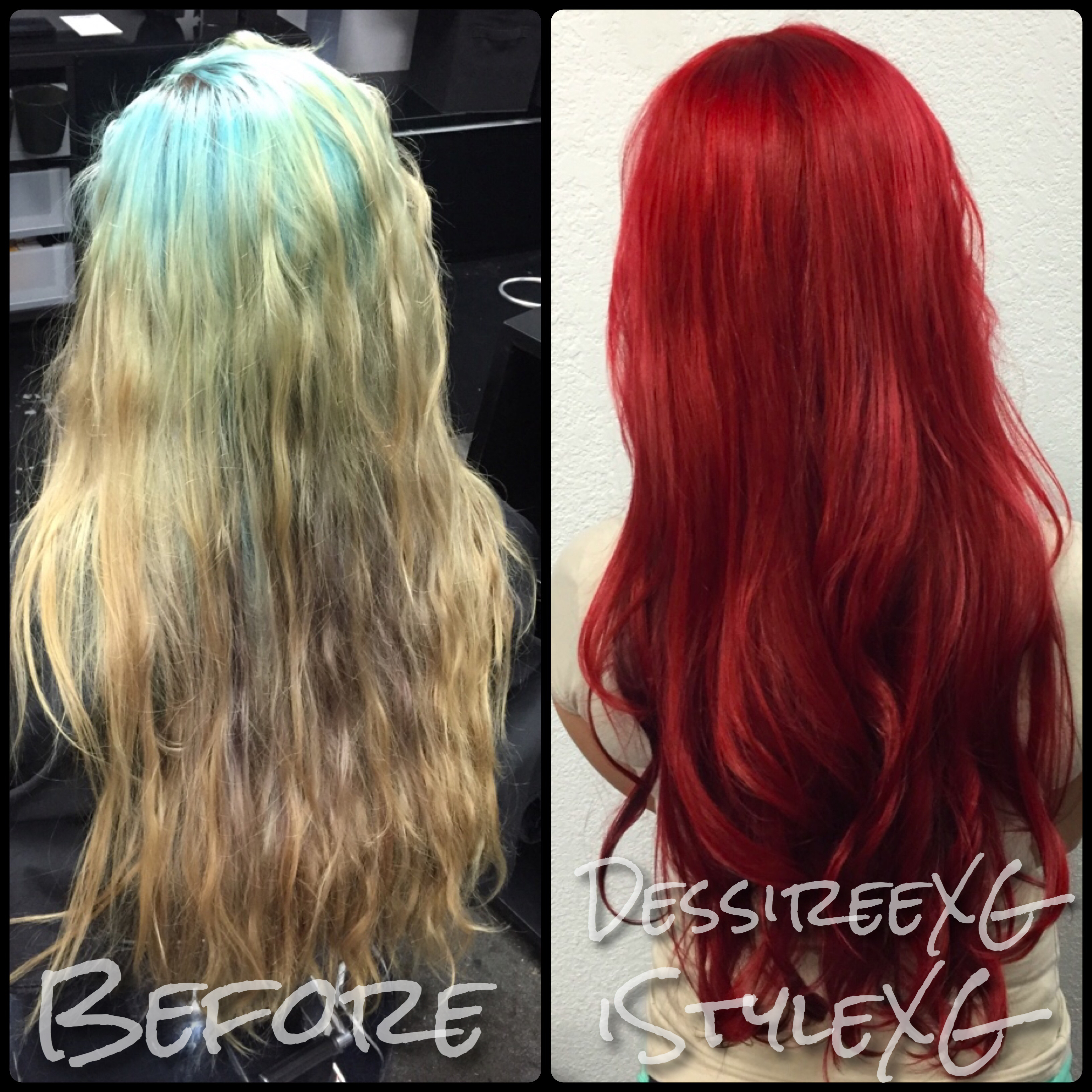 COLOR CORRECTION: Faded Whatever to Smokin' Red HOT!