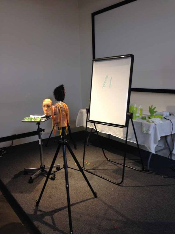 ACADEMY: The stage is set for some DevaCurl education.