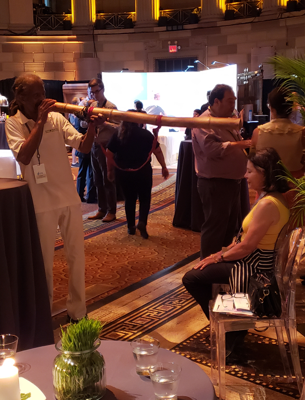 Hippocrates Health Institute showcased a Vibrational Sound Healing treatment using the didgeridoo, an ancient Aboriginal instrument, offering a broad range of harmonics to help lift an individual's vibration back into alignment and balance.