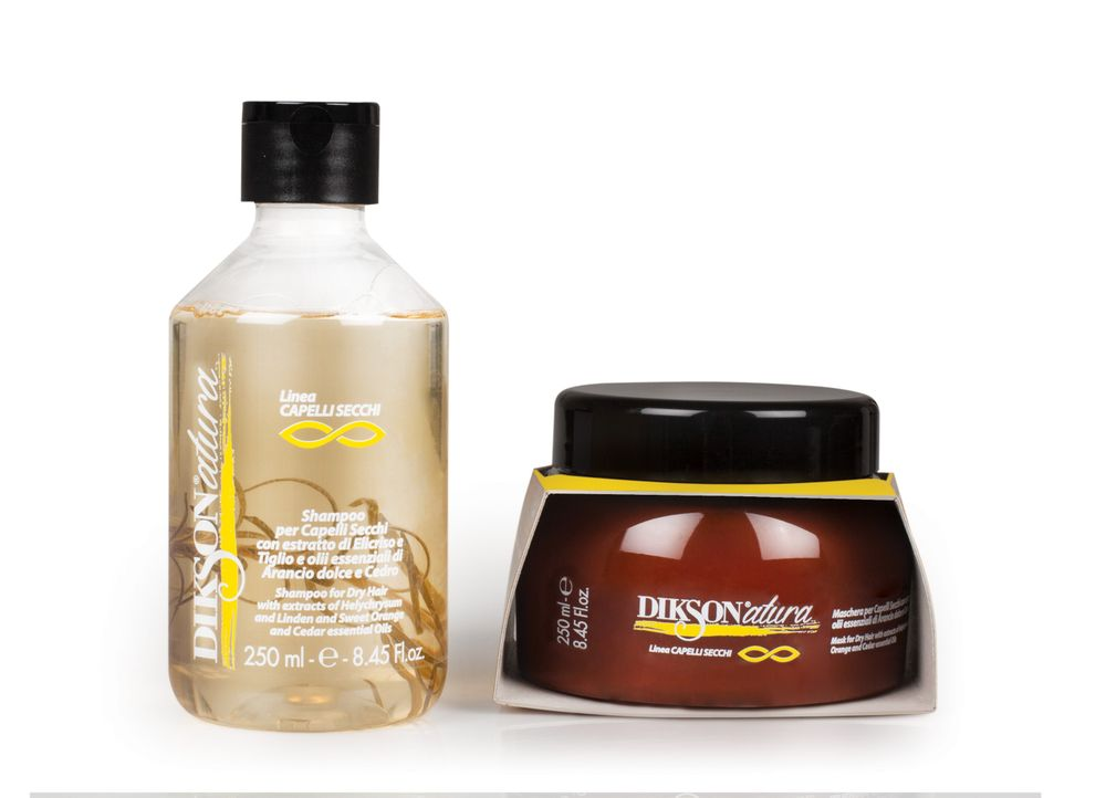 Dry hair line contains a mask and shampoo.
