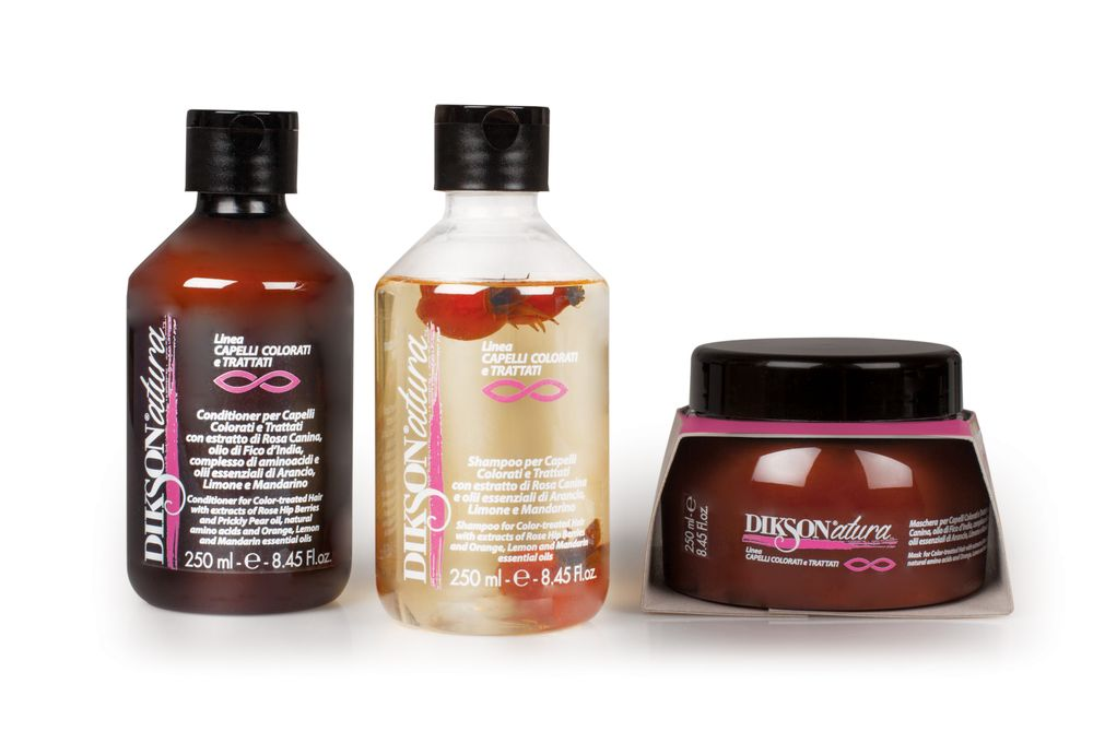 The color-treated line contains rose hip essence to restore light and tone to the hair and scalp.