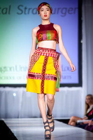 Color blocking was used by junior designers.