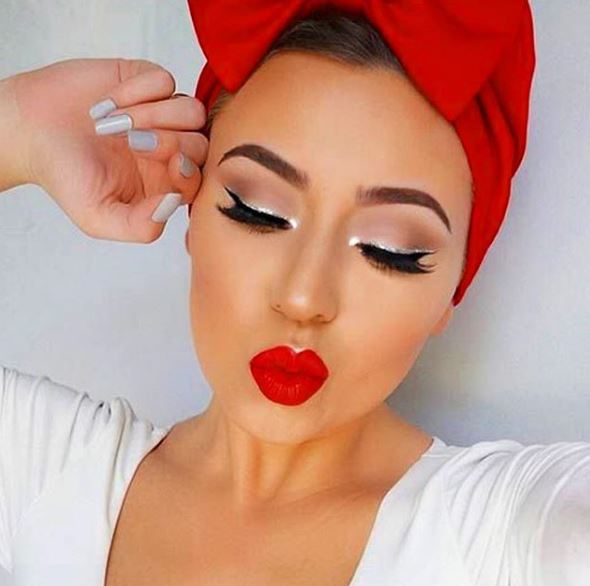 We love this wearable holiday glam.