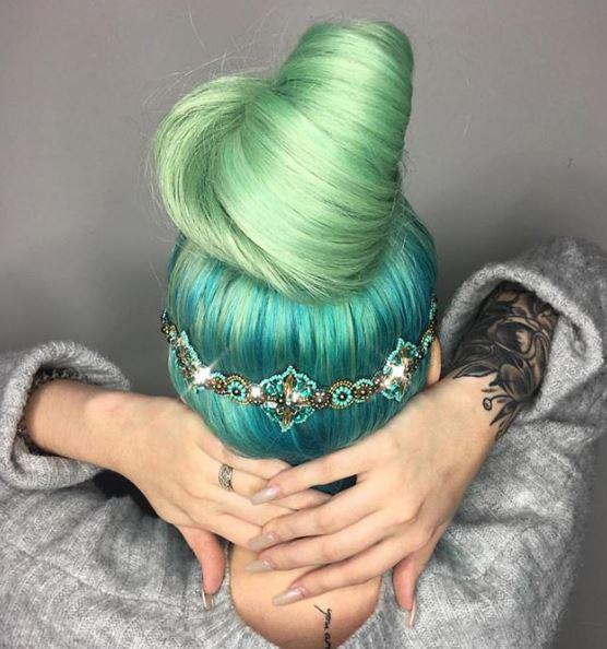 Jeweled goddess green.