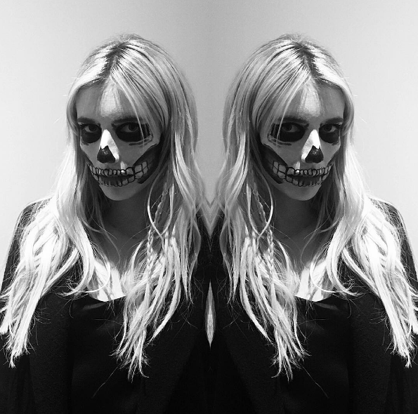 """""""I'm dead,"""" Emma Roberts said when she saw how good she looked on Halloween, probably. Hair by Anthony Holguin (@anthonyholguin)."""