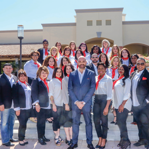 Team Essie at their 2016 education summit. Crispino says that being part of Essie education had...