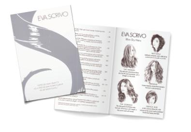 Eva Scrivo's salon menu reflects the business.