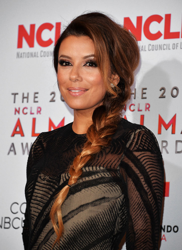 Eva Longoria's Extension Braid