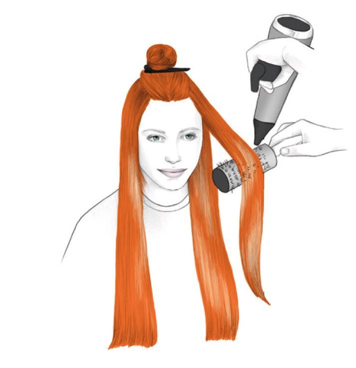 <strong>STYLING: - </strong><strong>STEP 1:</strong> On damp hair, apply Dramatize It Volumizing Mousse and blow dry the hair with a round brush to create shine and volume.