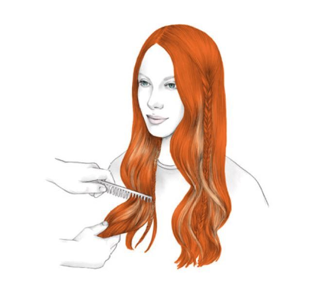 <strong>STYLING -</strong> <strong>STEP 4:</strong> Comb through with a large comb to open the waves. Style the hair with your fingers into the desired look, using Extra Lock X-Strong Hairspray.