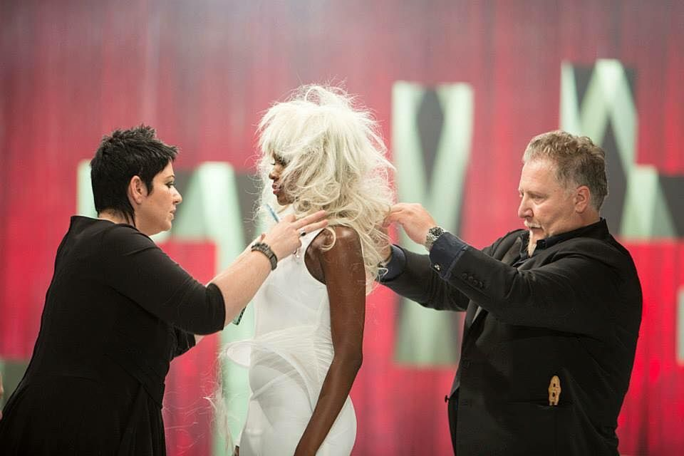 Carole Protat and Fabio onstage